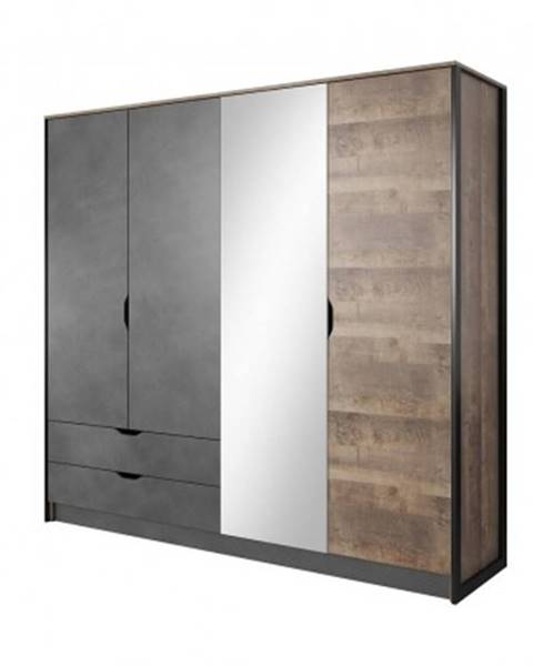 Meble Laski šatní skříň laura - 220x204x56 cm