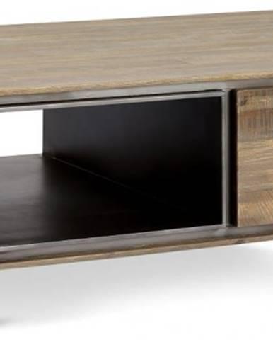 Konfereční stolek - dřevěný konferenční stolek mety