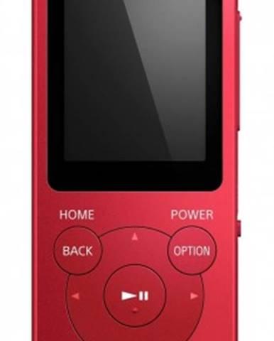 MP3 přehrávače sony nw-e394 8 gb, červená
