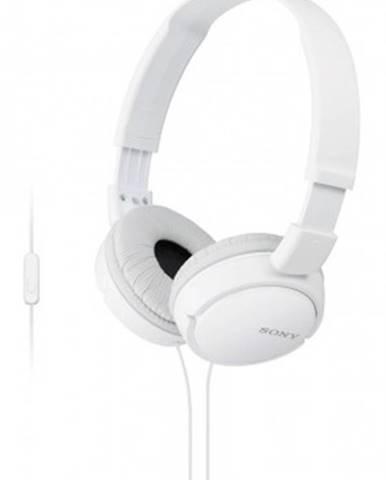 Sluchátka přes hlavu sony sluchátka mdr-zx110ap bílá
