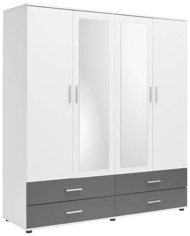 Boxxx ŠATNÍ SKŘÍŇ, antracitová, bílá, 168/188/52 cm - antracitová, bílá