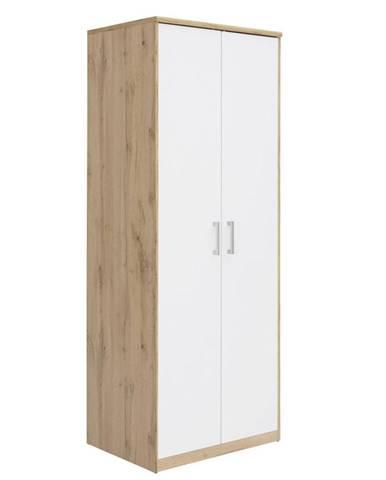 Xora ŠATNÍ SKŘÍŇ, bílá, barvy dubu, 72/194/54 cm - bílá, barvy dubu
