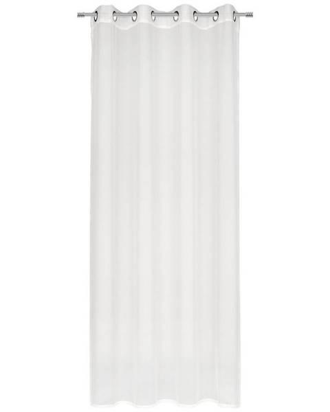 Esposa Esposa ZÁVĚS S KROUŽKY, průhledné, 140/245 cm - bílá