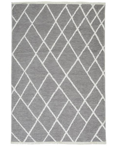 Novel Novel KOBEREC TKANÝ NA PLOCHO, 120/170 cm, šedá, bílá - šedá, bílá