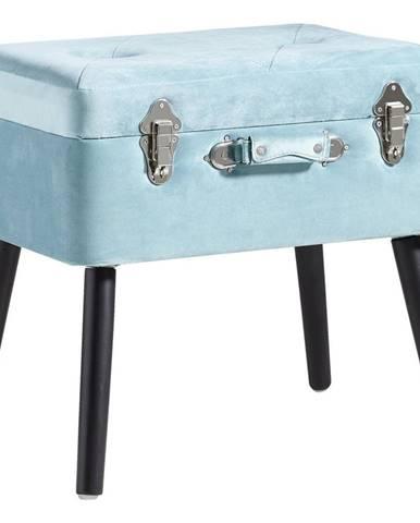 Ambia Home TABURET, dřevo, textil, kompozitní dřevo, 50/46/35 cm - modrá, černá