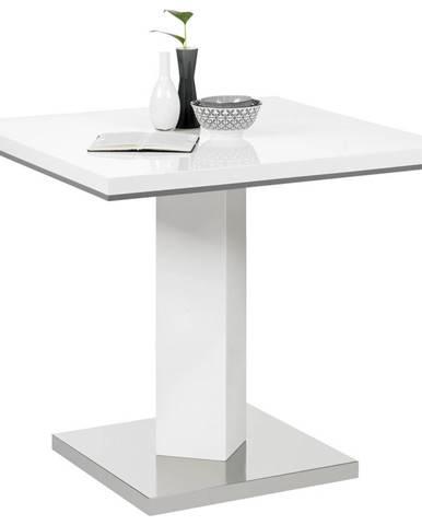 Carryhome JÍDELNÍ STŮL, šedá, bílá, barvy nerez oceli, 80/80/76 cm - šedá, bílá, barvy nerez oceli