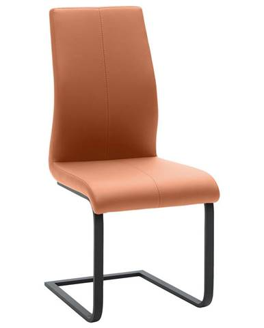 Dieter Knoll HOUPACÍ ŽIDLE, vzhled kůže, oranžová, černá - oranžová, černá