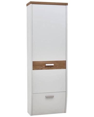 Dieter Knoll ŠATNÍ SKŘÍŇ, bílá, barvy dubu, divoký dub, 64/187/31 cm - bílá, barvy dubu
