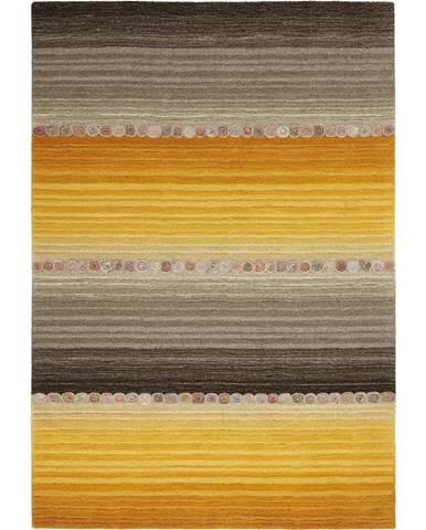 Esposa ORIENTÁLNÍ KOBEREC, 160/230 cm, šedá, oranžová - šedá, oranžová