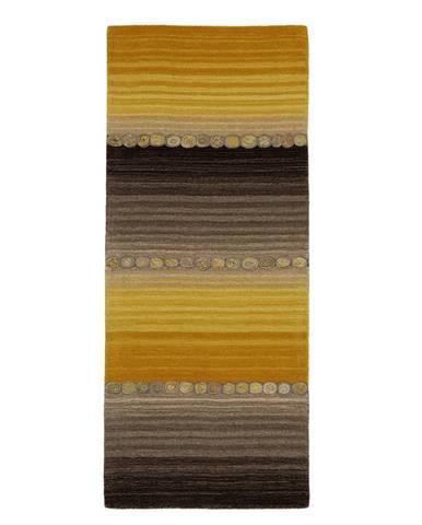 Esposa ORIENTÁLNÍ KOBEREC, 80/200 cm, hnědá, žlutá - hnědá, žlutá