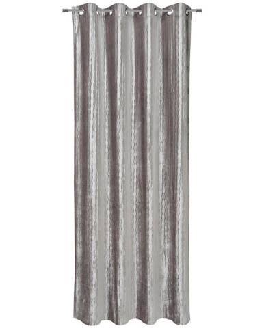Esposa ZÁVĚS S OČKY, neprůsvitné, 140/245 cm - barvy stříbra
