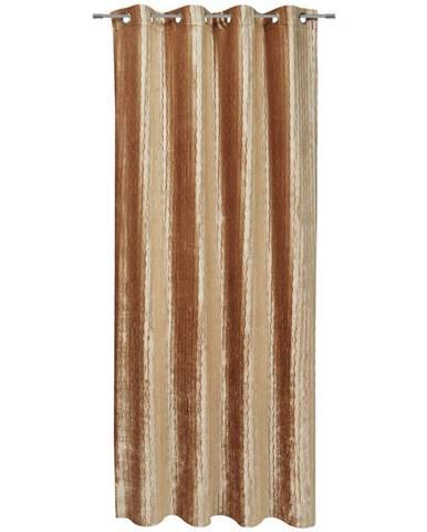 Esposa ZÁVĚS S OČKY, neprůsvitné, 140/245 cm - barvy zlata