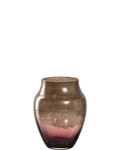 Leonardo VÁZA, sklo, 23 cm - červená, barvy zlata