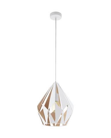 Marama ZÁVĚSNÉ SVÍTIDLO, E27/60 W, 31/110 cm - bílá, barvy zlata