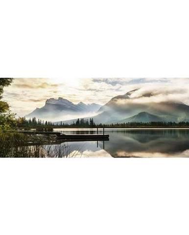 Monee OBRAZ NA SKLE, krajina & příroda, 125/50 cm - vícebarevná