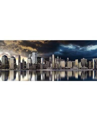 Monee OBRAZ NA SKLE, města, 125/50 cm - vícebarevná