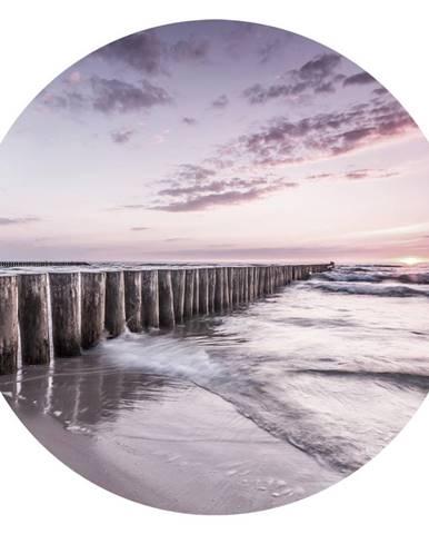 Monee OBRAZ NA SKLE, pláž & moře, 70 cm - vícebarevná