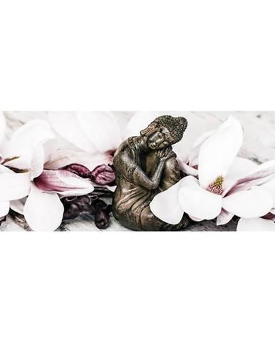 Monee OBRAZ NA SKLE, zen, 80/30 cm - vícebarevná