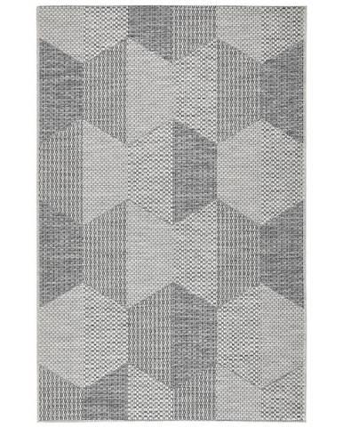 Novel KOBEREC TKANÝ NA PLOCHO, 160/230 cm, krémová, černá - krémová, černá