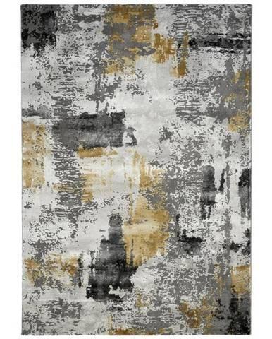 Novel TKANÝ KOBEREC, 133/190 cm, šedá, světle šedá, curry žlutá - šedá, světle šedá, curry žlutá