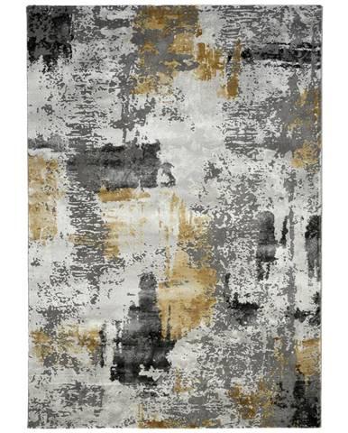 Novel TKANÝ KOBEREC, 160/230 cm, šedá, světle šedá, curry žlutá - šedá, světle šedá, curry žlutá