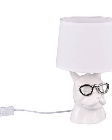 STOLNÍ LAMPA, E14, 18/29 cm - bílá, barvy chromu