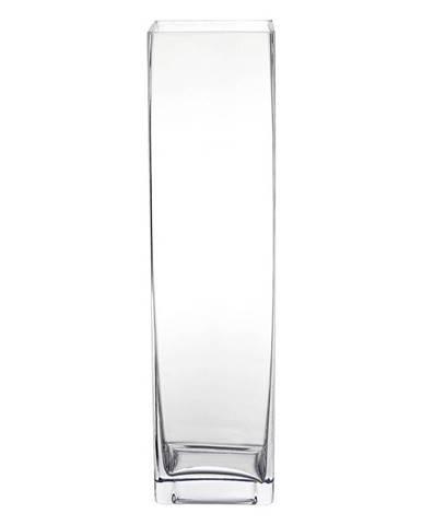 VÁZA, sklo, 40 cm - čiré
