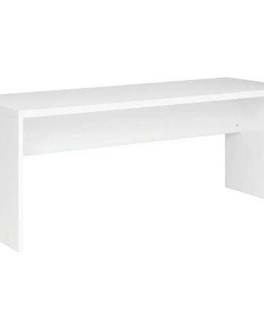 Xora PSACÍ STŮL, bílá, 180/69/75 cm - bílá