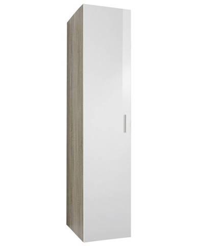 Xora ŠATNÍ SKŘÍŇ, bílá, barvy dubu, 45/185/54 cm - bílá, barvy dubu
