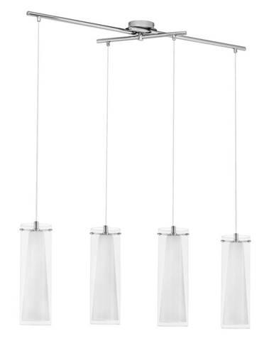 ZÁVĚSNÉ SVÍTIDLO, E27/60 W, 90,5/36/110 cm - bílá, barvy chromu