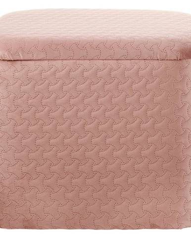 Ambia Home TABURET, dřevo, textil, 36,5/30/30,5 cm - starorůžová
