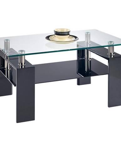 Boxxx KONFERENČNÍ STOLEK, černá, sklo, kompozitní dřevo, 110/55/60 cm - černá
