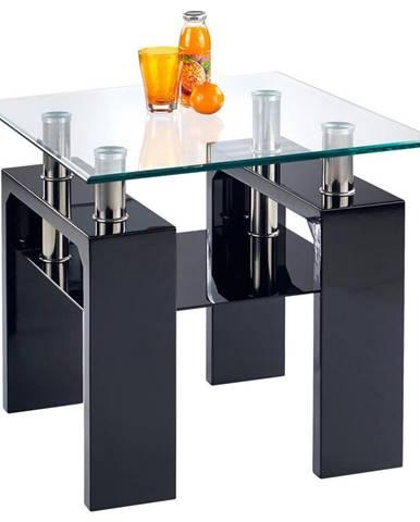Boxxx KONFERENČNÍ STOLEK, černá, sklo, kompozitní dřevo, 60/55/60 cm - černá