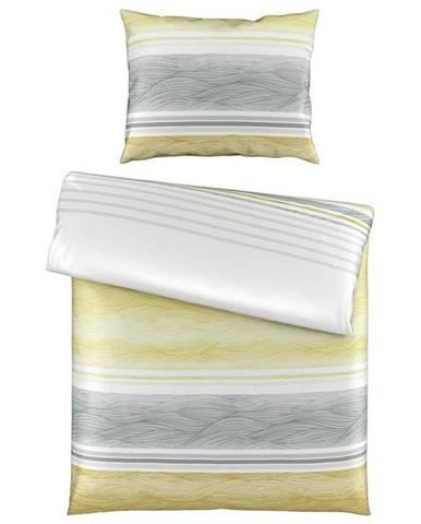 Novel POVLEČENÍ, satén, žlutá, 140/200 cm - žlutá