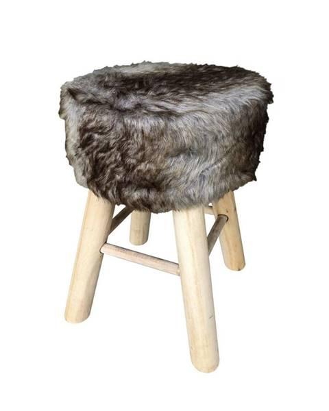 Ambia Home Ambia Home TABURET, dřevo, textil, kompozitní dřevo, 28/42 cm - šedá, přírodní barvy