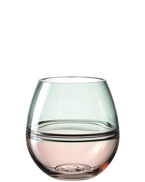 Leonardo Leonardo VÁZA, sklo, 17,00 cm - růžová, tyrkysová