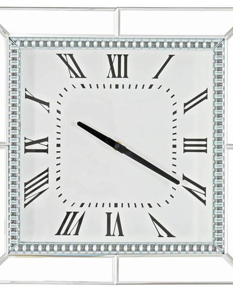 Xora Xora NÁSTĚNNÉ HODINY, barvy stříbra, 40,5/40,5/5 cm - barvy stříbra