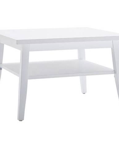 Carryhome KONFERENČNÍ STOLEK, bílá, dřevo, kompozitní dřevo, 70/70/45 cm - bílá