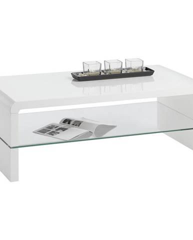 Carryhome KONFERENČNÍ STOLEK, bílá, sklo, kompozitní dřevo, 110/60/40 cm - bílá