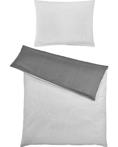 Joop! POVLEČENÍ, makosatén, antracitová, barvy stříbra, 140/200 cm - antracitová, barvy stříbra