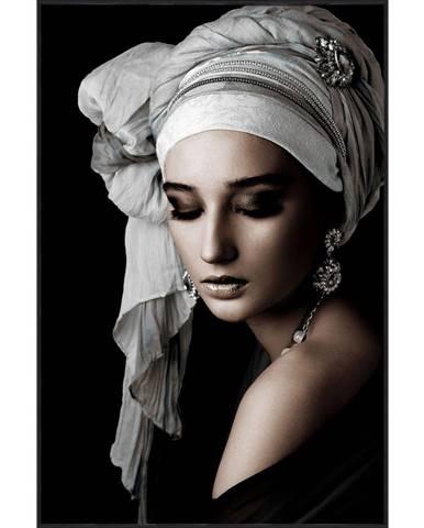 Monee OBRAZ NA SKLE, ženy, 80/120 cm - šedá, černá