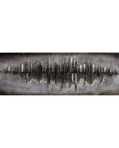 Monee OLEJOMALBA, abstraktní, 180/55 cm - barvy stříbra