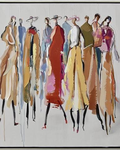 Monee OLEJOMALBA, lidé, 85/85 cm - modrá, hnědá, žlutá, červená, bílá