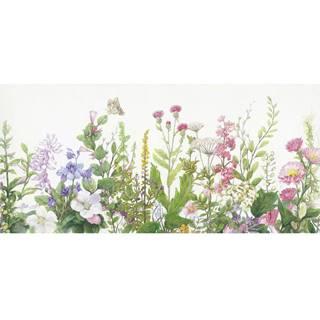 Monee OLEJOMALBA, květiny, 150/70 cm - zelená, fialová, pink, světle zelená, béžová
