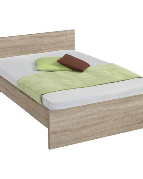 Carryhome Carryhome POSTEL, 140/200 cm, kompozitní dřevo, Sonoma dub - Sonoma dub