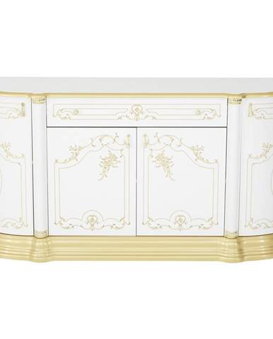Cantus KOMODA SIDEBOARD, bílá, barvy zlata, 186/87/54 cm - bílá, barvy zlata