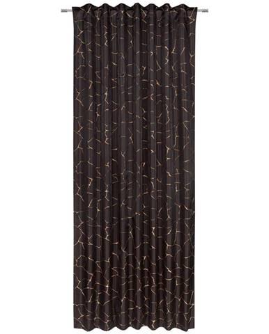 Esposa HOTOVÝ ZÁVĚS, neprůsvitné, 140/245 cm - černá, měděné barvy