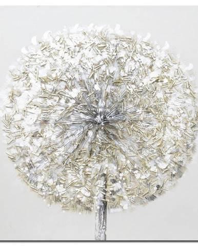 Monee OLEJOMALBA, abstraktní, 55/55 cm - modrá, hnědá, šedá, černá, bílá