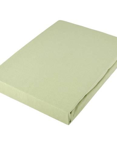 Novel PROSTĚRADLO NAPÍNACÍ, žerzej, světle zelená, 100/200 cm - světle zelená