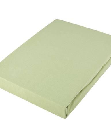 Novel PROSTĚRADLO NAPÍNACÍ, žerzej, světle zelená, 150/200 cm - světle zelená